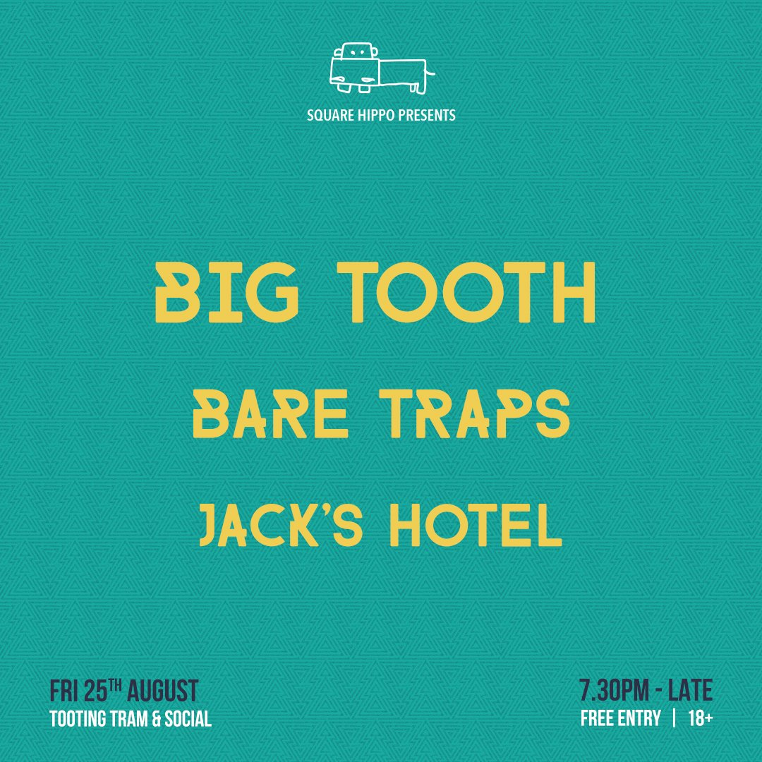 Next Friday @TootingTram with @bigtoothband for @square_hippo Perfect Friday night activity! #gigs #livemusic #londongigs #indie<br>http://pic.twitter.com/2o3cbKrSXH