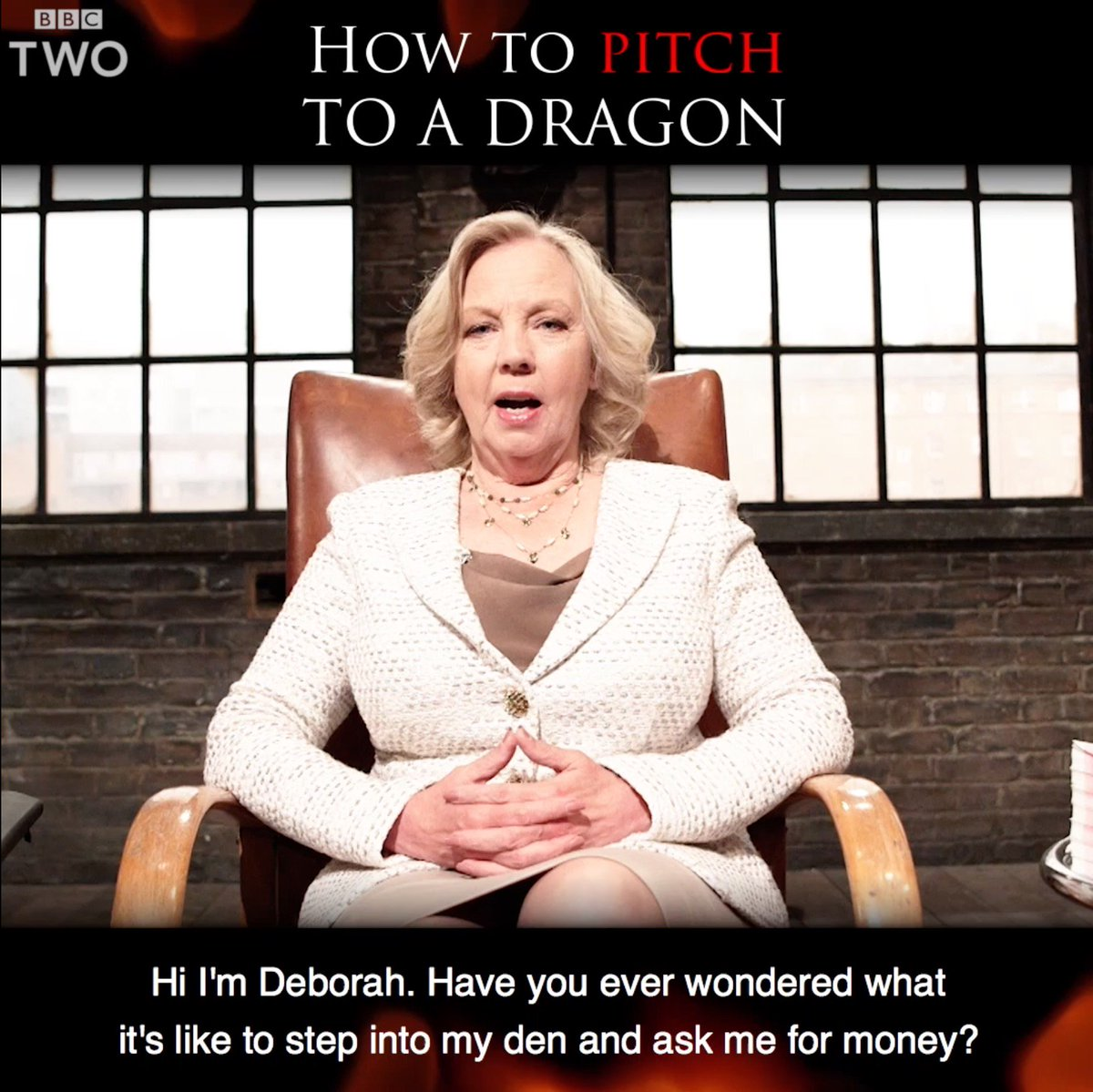 Ever wondered what it's like asking @DeborahMeaden for money? Step int...
