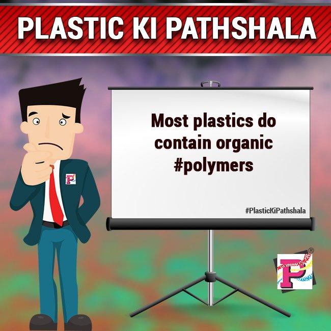 Most Plastics do contain organic #polymers  #Plastics #Polymer #Plastivision2019<br>http://pic.twitter.com/mFeduALrgW