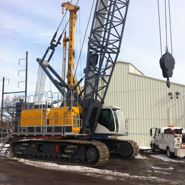 #TBT to 2014 when we took delivery of a #BAUER MC 96 Duty-Cycle Crane. Here it is at our Philadelphia location.<br>http://pic.twitter.com/o4wEtVgcCy