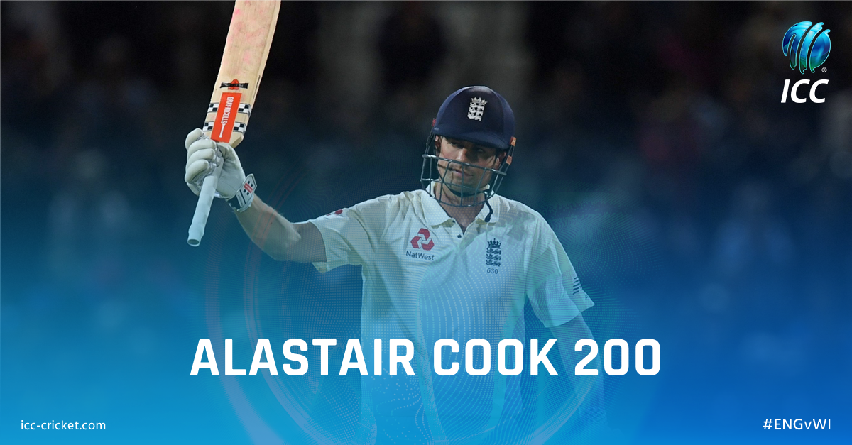 200 for Alastair Cook!  That's his fourth Test double century! Congrat...