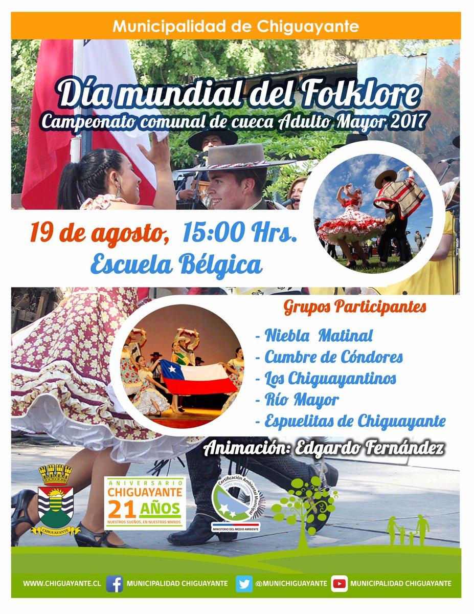 En #Chiguayante ya se siente el ambiente &#39;dieciochero&#39;   Celebraremos el #DíaDelFolklor, con el campeonato de cueca del #AdultoMayor <br>http://pic.twitter.com/ywuJoJclsr