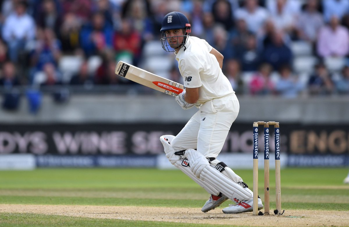 Well played!   A 4th Test Match double hundred for Alastair Cook.   #B...