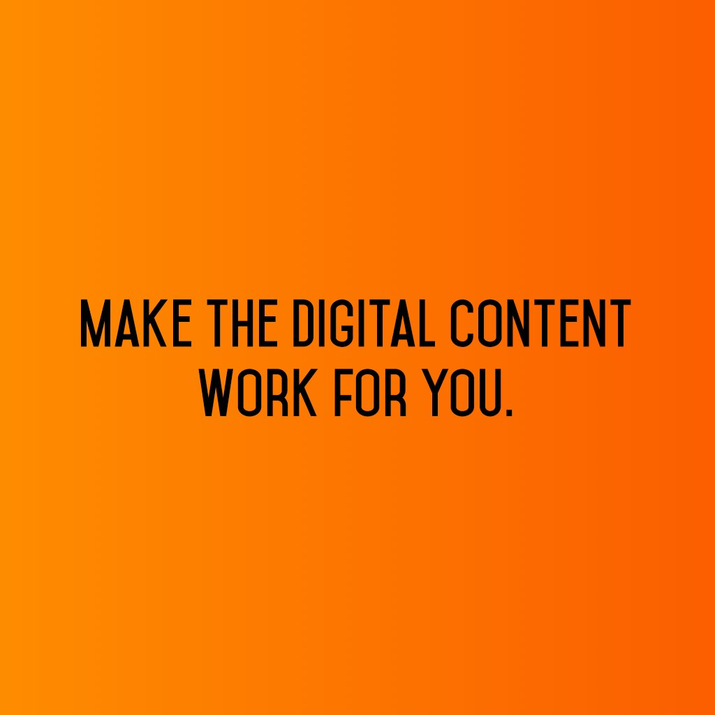:: Make the digital content work for you :: #sm2p0 #contentstrategy #SocialMediaStrategy #DigitalStrategy #FutureOfSocialMedia<br>http://pic.twitter.com/NBoEfNueBR