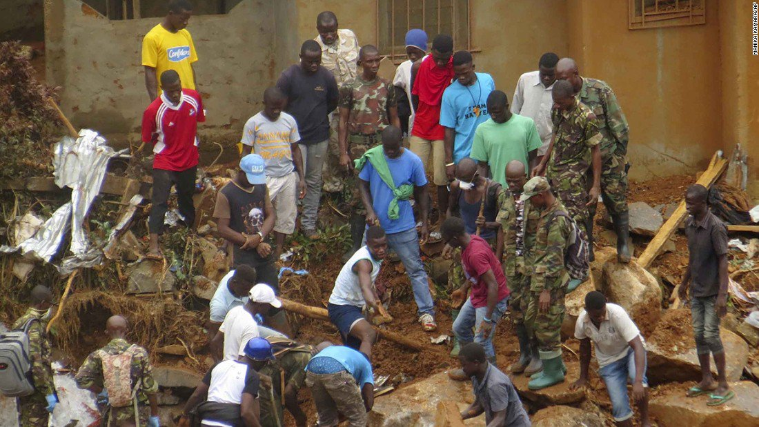 The death toll from this week's devastating mudslides in Sierra Leone has risen to 419 & hundreds are still missing https://t.co/dO36DbPN7F