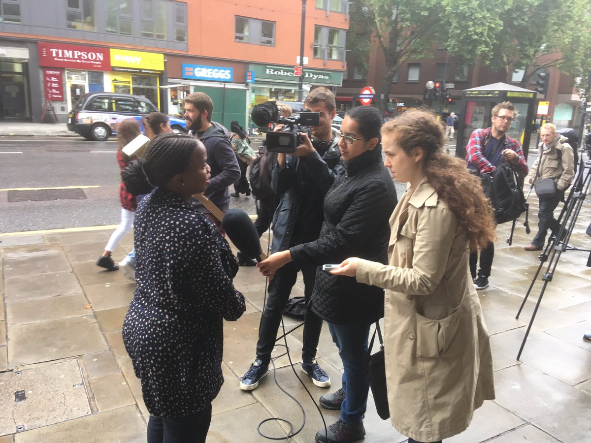 .@zilevandamme of South Africa&#39;s Democratic Alliance @Our_DA outside @BellPottinger office after @PRCA_UK hearing into agency&#39;s conduct #pr <br>http://pic.twitter.com/7kgW1gMqz2