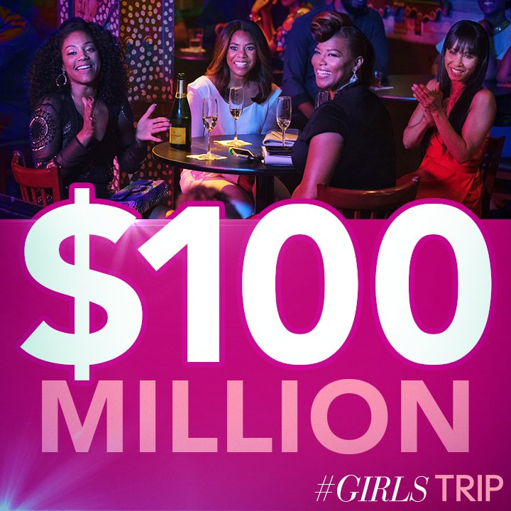 This is amazing!!! So proud of the entire #GirlsTrip team! We are so thankful to everyone who came out and supported us ❤️️❤️️❤️️