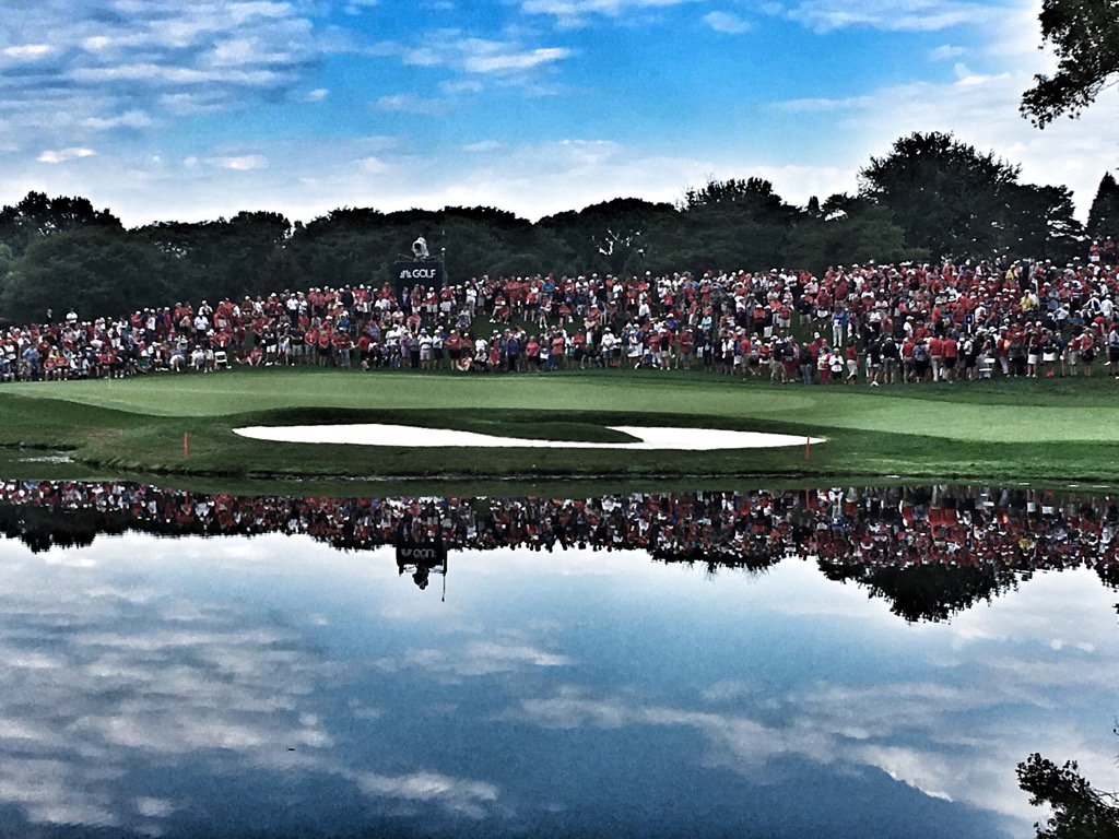Reflecting a great  scene here at #SolheimCup2017 huge crowds and tens...