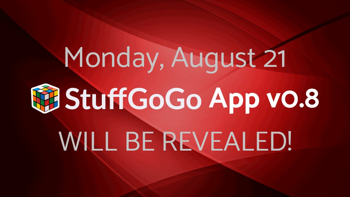 Monday, August 21 @StuffGoGo App v0.8 WILL BE REVEALED! #stuffgogo #crowdsale #ico #ethereum #bitcoin #ecommerce <br>http://pic.twitter.com/wyQqctgmms