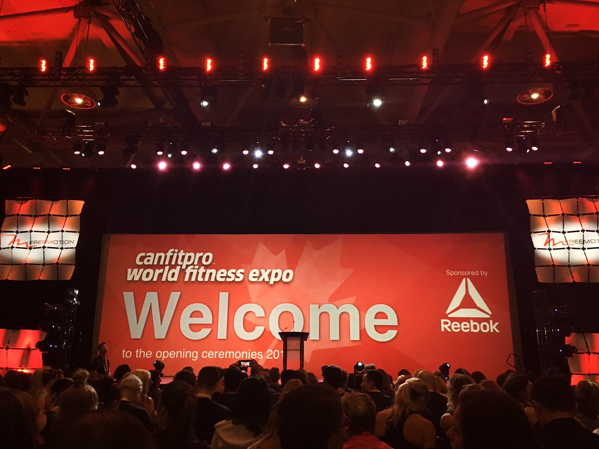 Retweet if you're at the Opening Ceremonies! #worldfitnessexpo #canfit...