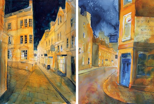 See #Bath&#39;s beauty captured in energetic watercolour by @rodcraigartist at a new exhibition at @ImagBath.  @bathindiechat<br>http://pic.twitter.com/7sNWleBGWm