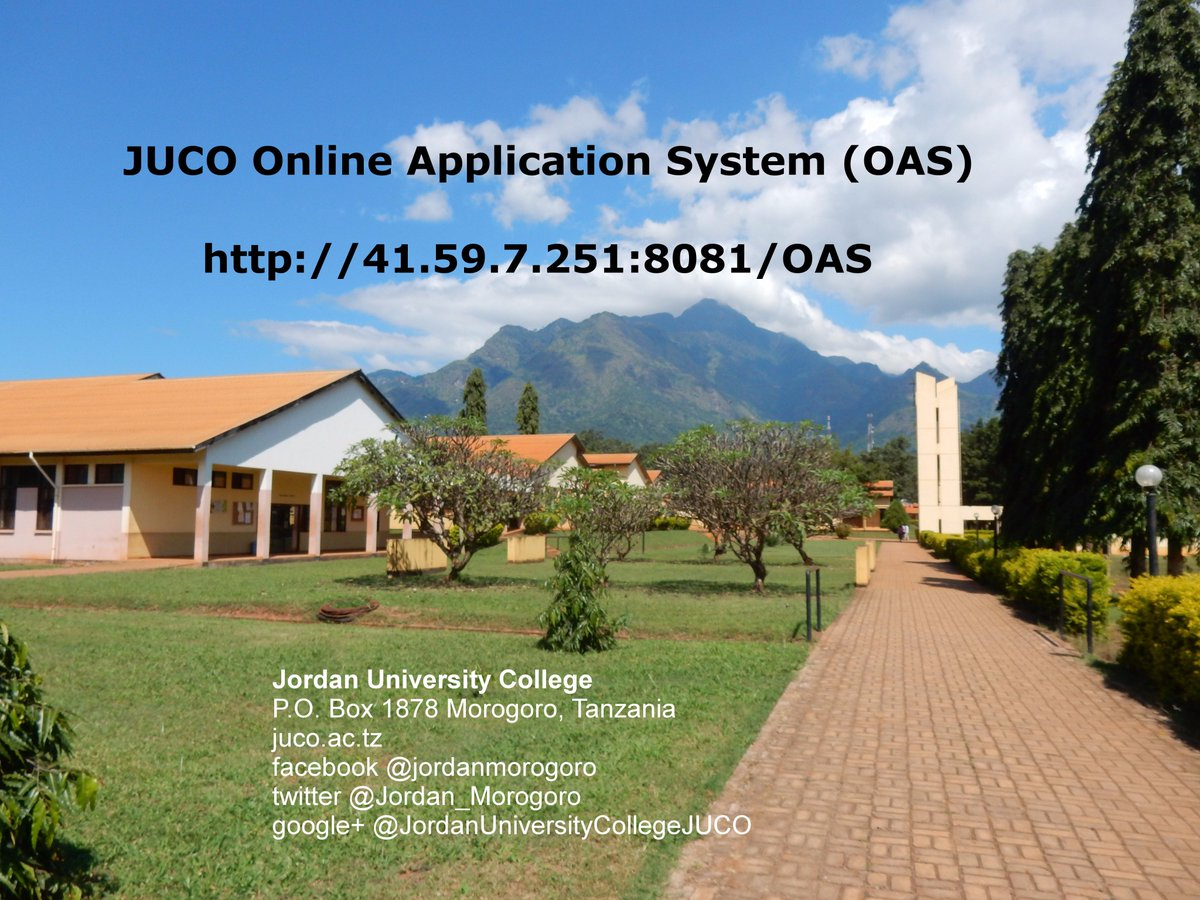 JUCO Online Application System 41.59.7.251:8081/OAS/index.php   #JUCO #Morogoro #Tanzania #education #admission #GainWithXtianDela<br>http://pic.twitter.com/2U569VwObm