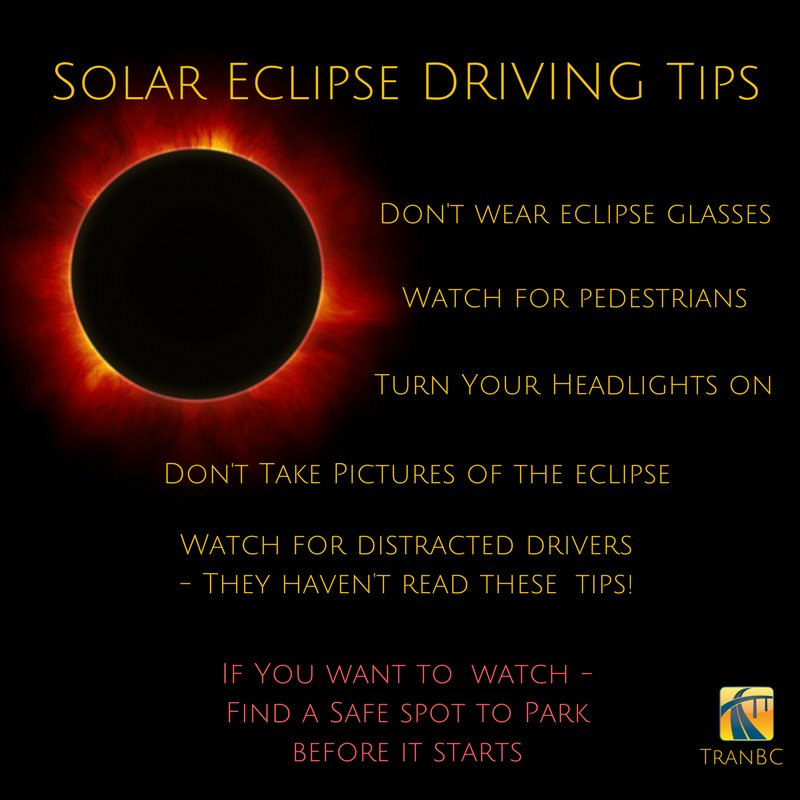 Will you be driving during the #SolarEclipse2017?  Don't panic, we've got you covered with these helpful tips: https://t.co/AvsRFWcybW