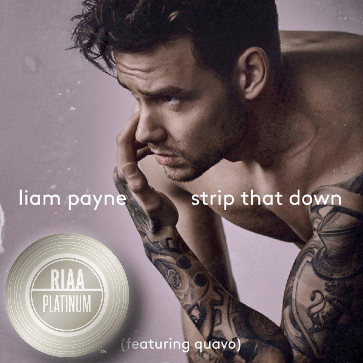 Platinum in three months! Congratulations @LiamPayne #StripItDown! @RepublicRecords