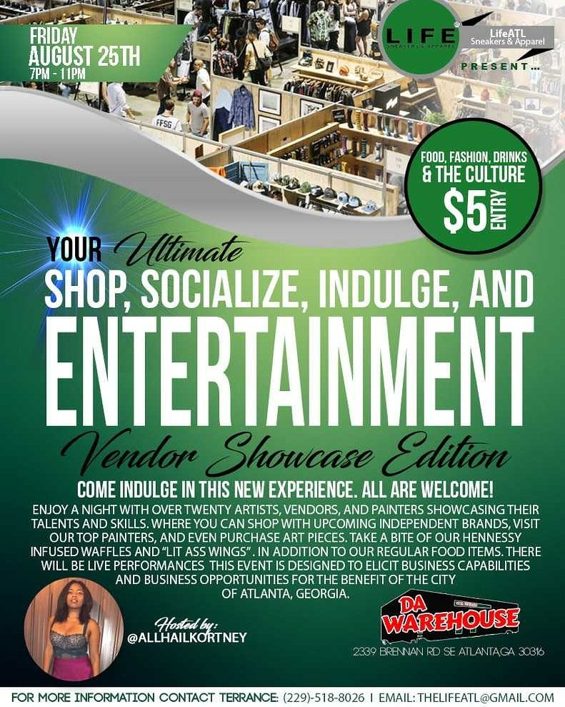 AUGUST 25th COME JOIN US FOR OUR FIRST VENDOR SHOWCASE IN #ATL <br>http://pic.twitter.com/qplE3ziq90