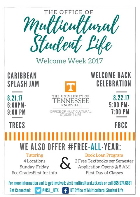 The countdown begins... FALL IS COMING. Spend your last few days of summer with Multicultural Student Life! #WelcomeVols #utk21 #utk18 https://t.co/eoiY6HZ6U7