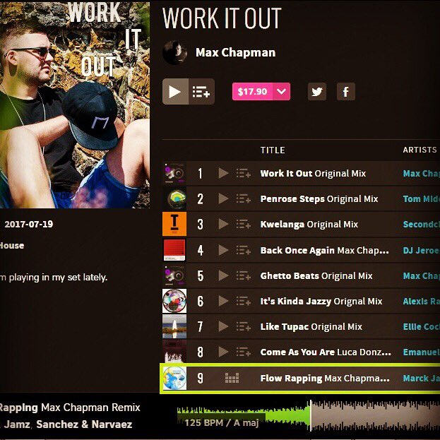 Massive thanks @DJMaxChapman  for include his #remix of our track with @Marck_Jamz for @CuttingEdgeLDN on his Work it Out #chart ️<br>http://pic.twitter.com/1Av5Skcgli