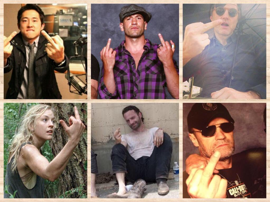 @ABIGAIL_GRITS in TWD world it&#39;s officially #FOF! Happy flip off Friday. It&#39;s a thing. <br>http://pic.twitter.com/ylriCbxZ2B