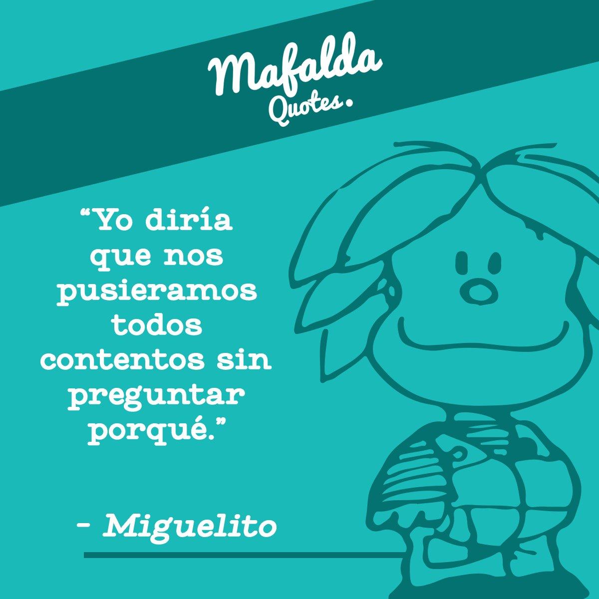 Si Miguelito lo dice, nosotros lo hacemos. #Quotes #MiguelitoQuotes #Quino #Mafalda https://t.co/2Scmz7dqnB