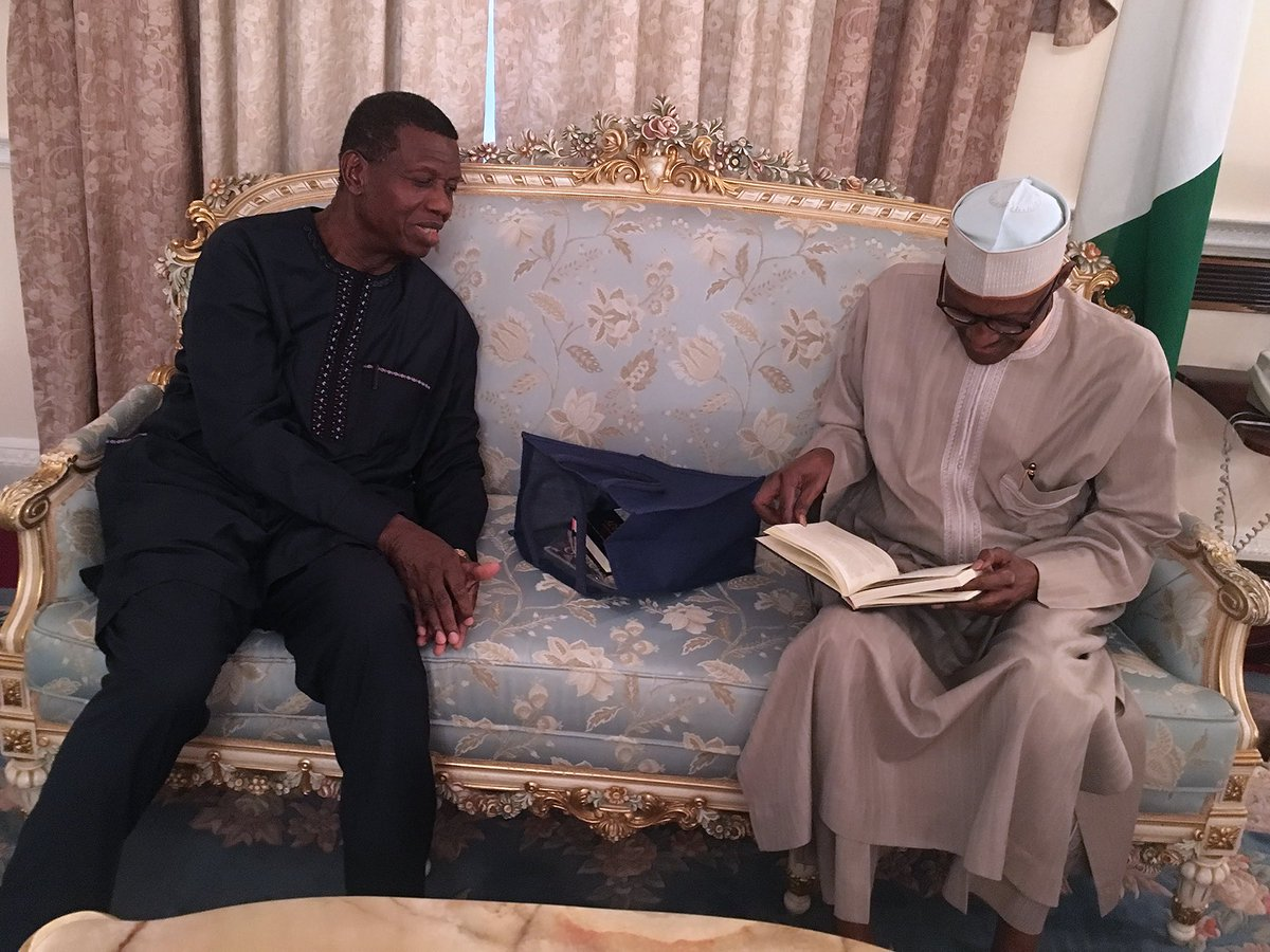 President Buhari and Pastor Enoch Adeboye