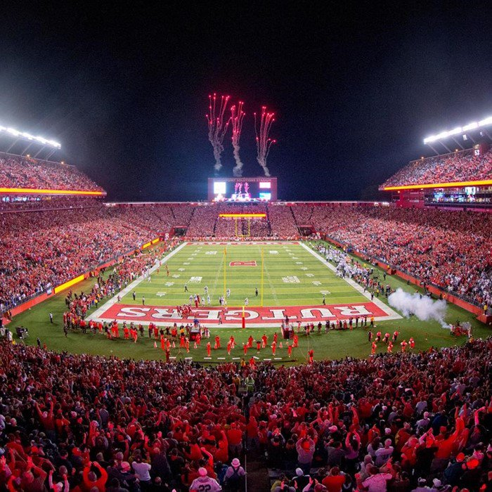 Rutgers is adding a pool or jacuzzi to the student section for its hom...