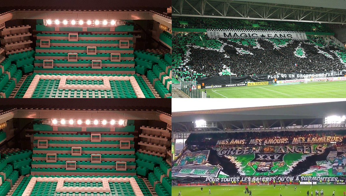 #asse #greenangels and #magicfans will be rocking #geoffroyguichard! My #lego stadium is ready for them!! #allezlesverts #sainté #ligue1<br>http://pic.twitter.com/ReOOJLxwW9
