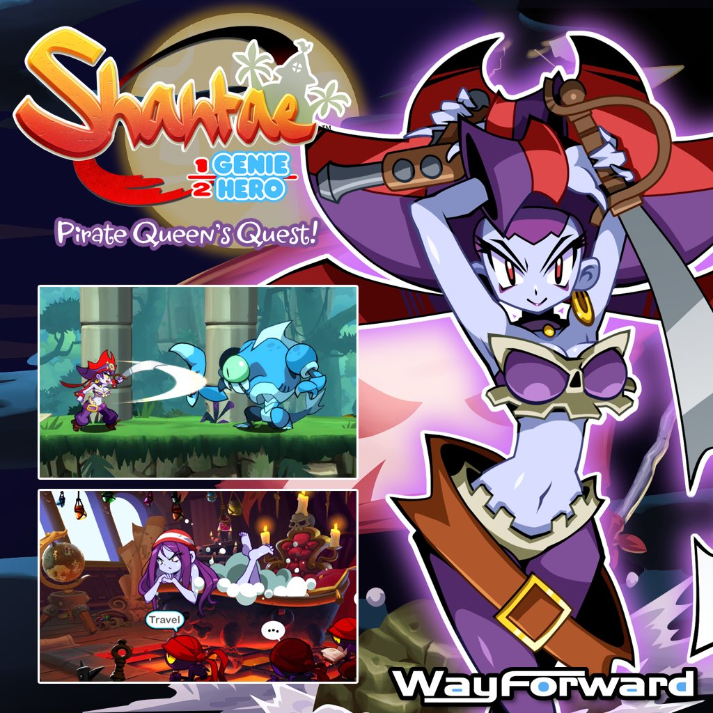 Shantae: Pirate Queen's Quest will launch on August 29th!! Who's excited for Risky's first solo adventure? https://t.co/TmA9Zjq2aA