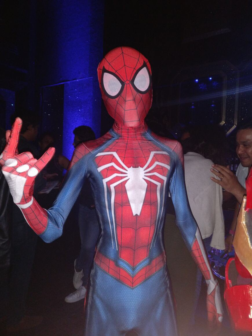 #Spiderman is ready to swing by the dance floor! #HomeToSuperheroes