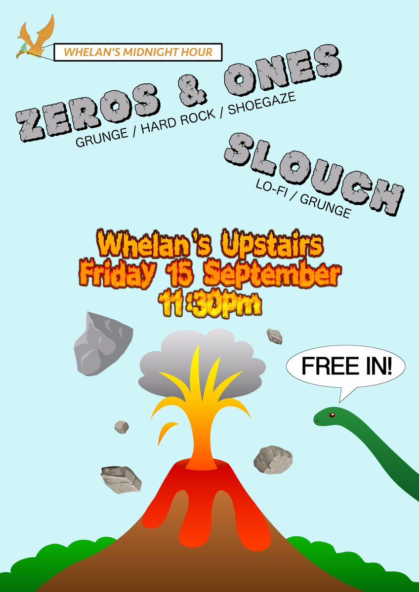 We&#39;ll be making our return to @whelanslive on 15 Sept with Dublin grunge slugs Slouch. Come and release your inner caveman #irishmusic #gigs <br>http://pic.twitter.com/c6VZbZmzEf