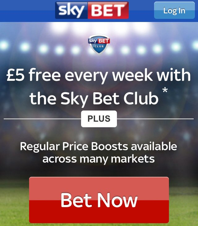 Skys New Free Bet Club - £5 Free Bet Every Monday When Gamble £25+ a Week  http:// bit.ly/SKYBETFBG  &nbsp;   #freebet <br>http://pic.twitter.com/ypUzpFZNXO