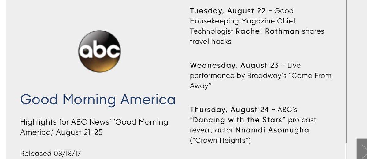 Thursday, August 24.... #DWTS  pro cast reveal... https://t.co/O2QhaW6uNT