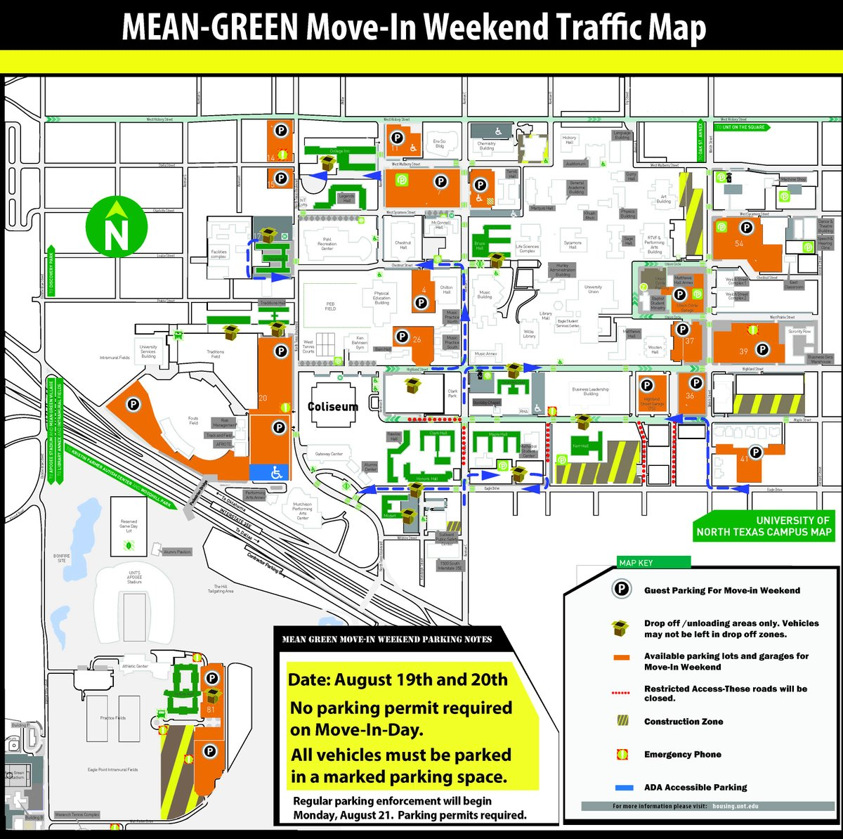 unt campus map 2016 Unt Transportation On Twitter We Re Looking Forward To Having