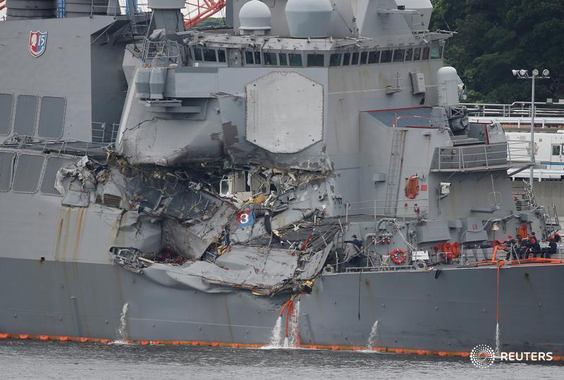 U.S. Navy, citing poor seamanship, removes commanders of USS Fitzgerald after deadly crash: https://t.co/jKfmnGwboA