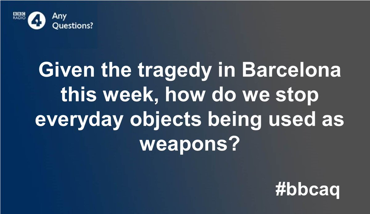 Our first question tonight is on the Barcelona attack. Join the debate...