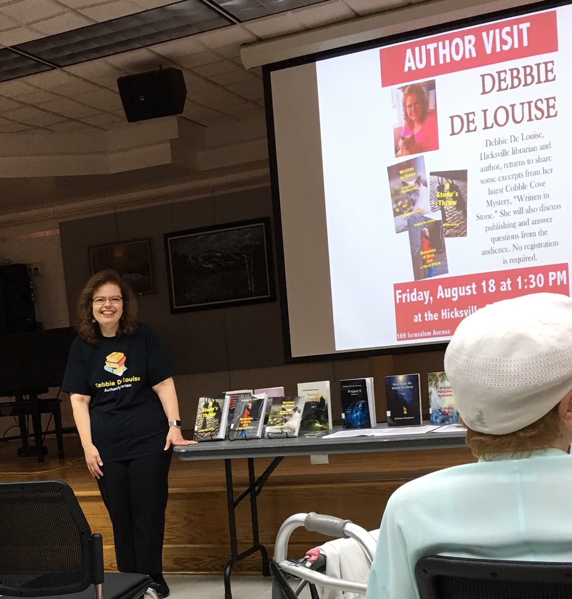 Attending Debbie De Louise&#39;s   @Deblibrarian author talk today at the Hicksville library #LongIsland #newyork <br>http://pic.twitter.com/iAUouhq8NF