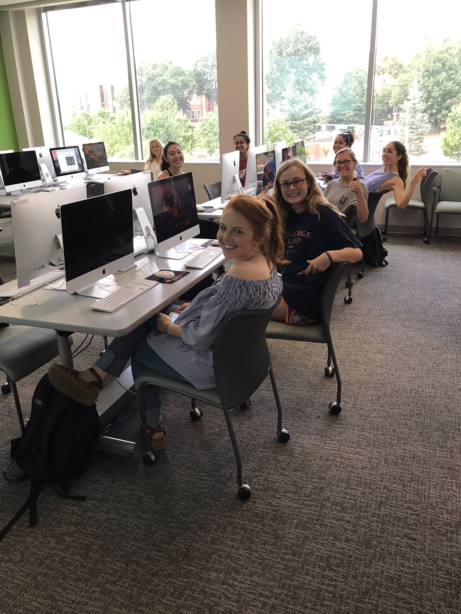 New Media students hard at work on a Friday afternoon. https://t.co/LEb6P7vRs2