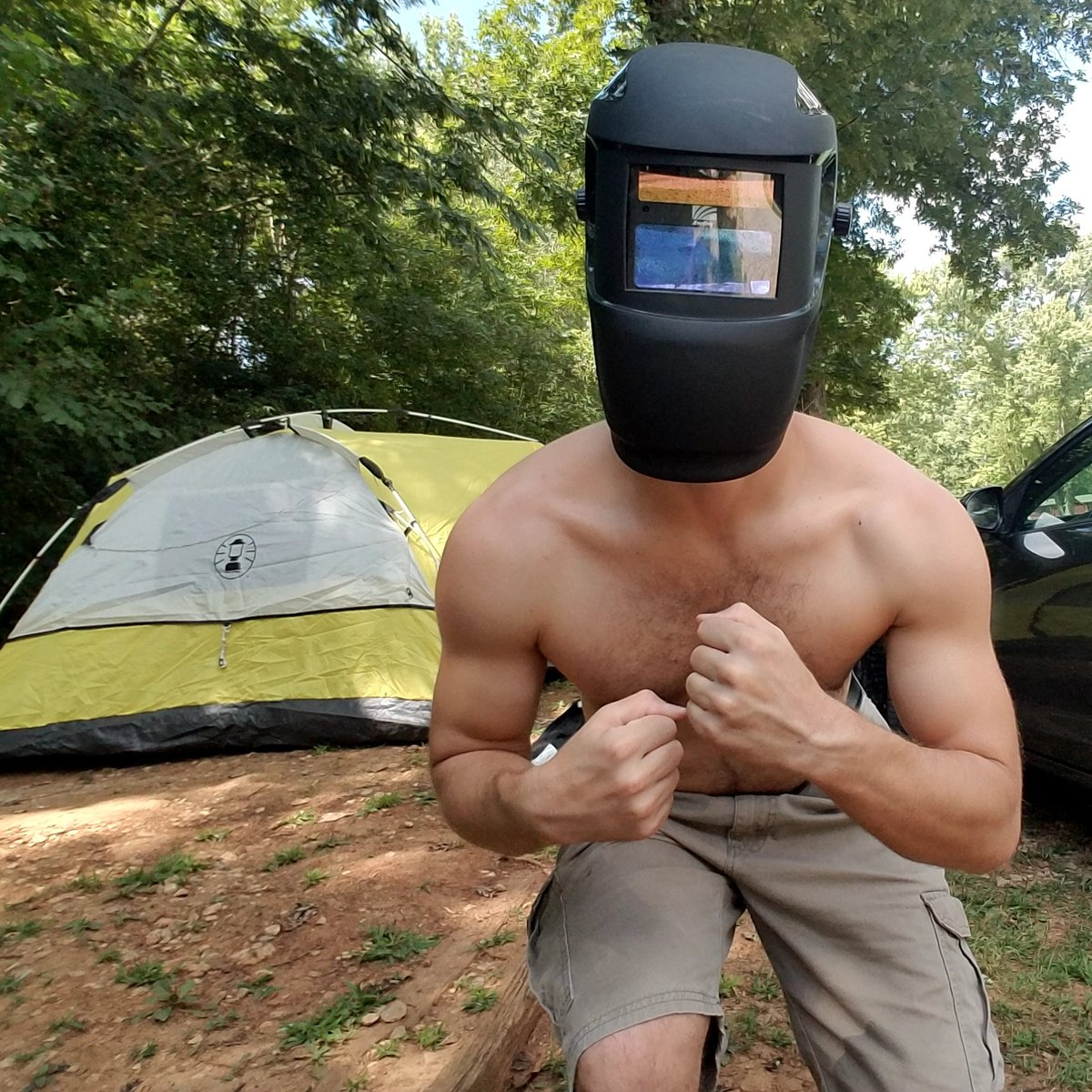 I&#39;m pumped &amp; ready for the Eclipse! #DarthCharles #SunWars #GunWars #Damn..I look sexy when you can&#39;t see my face.. <br>http://pic.twitter.com/iPK0ND8rlG