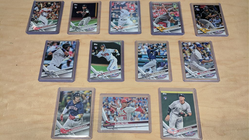 One dozen cards – for YOU.      RT for a chance to win all 12 @Topps rookie #MLBCards. https:
