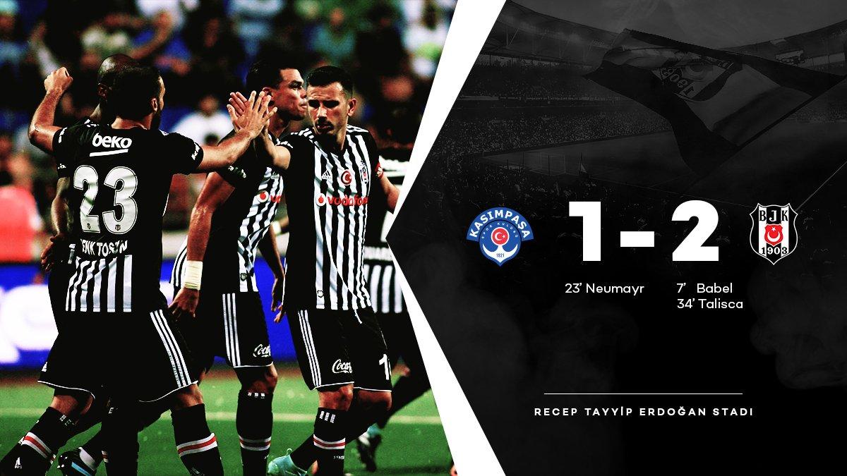 Takımımız soyunma odasına 2-1 önde gitti. #Beşiktaş