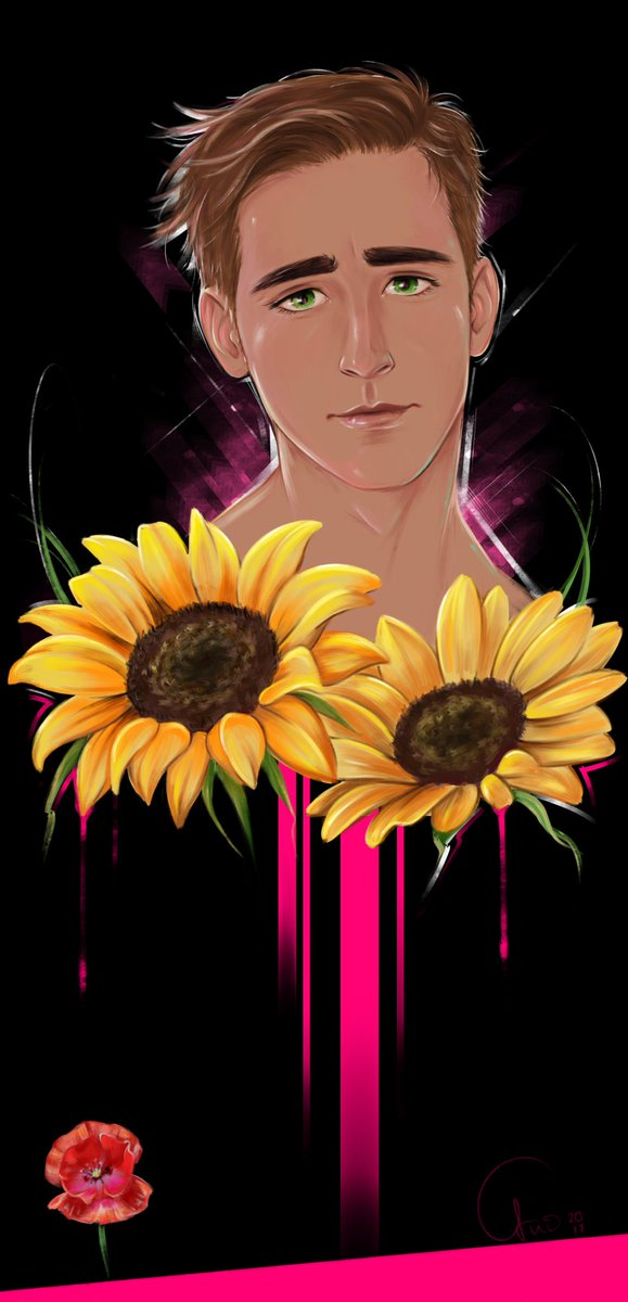 A dreamy Lee Pace with sunflowers. I experimented a bit and don&#39;t know what happened here. #leepace #sunflowers <br>http://pic.twitter.com/gfBp7XFzQv
