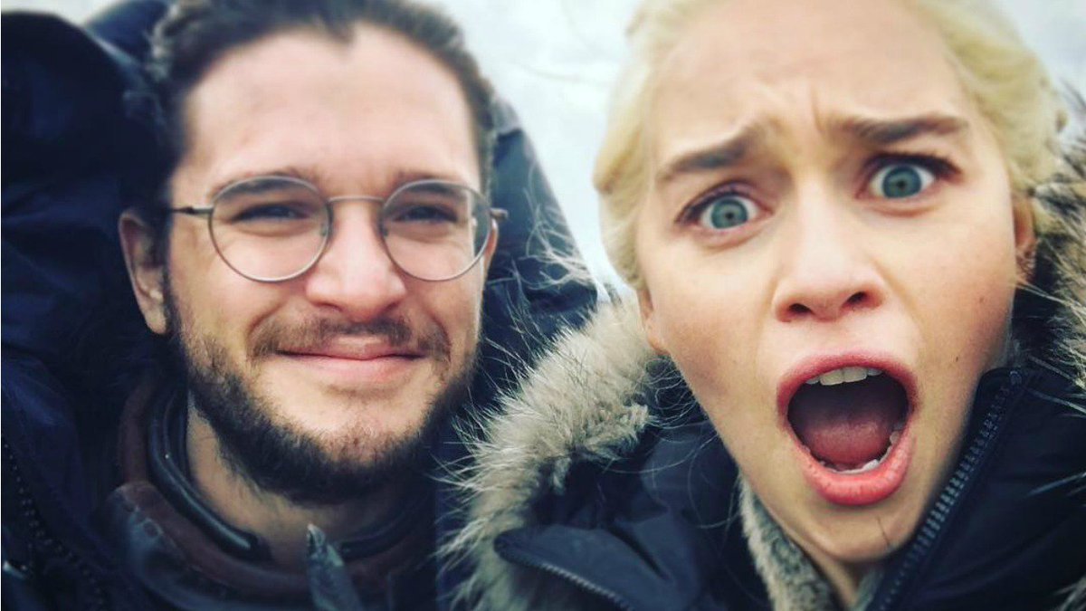 Kit Harington hilariously pretends to be a dragon in Emilia Clarke's l...