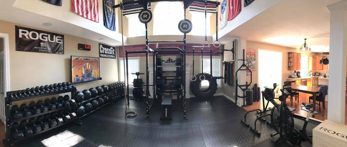 Rogue Fitness On Twitter When The Garage Isnt Big Enough Living Room Gym Courtesy Of Sean Hollick Tco F6V2tF8XJT SsIxgwkfw9