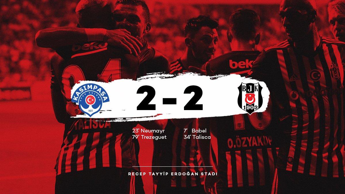 Beşiktaşımız, Süper Lig\'in 2. haftasında Kasımpaşa ile 2-2 berabere kaldı. #Beşiktaş