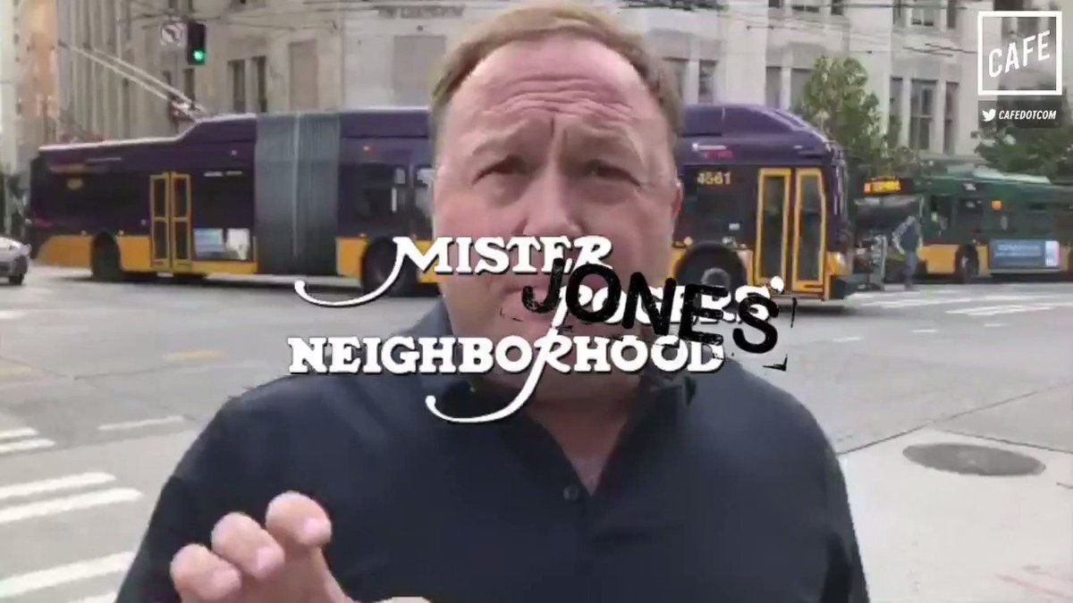 Welcome to Mister Jones' Neighborhood, where everyone is a globalist shill. (@MattBinder for CAFE)