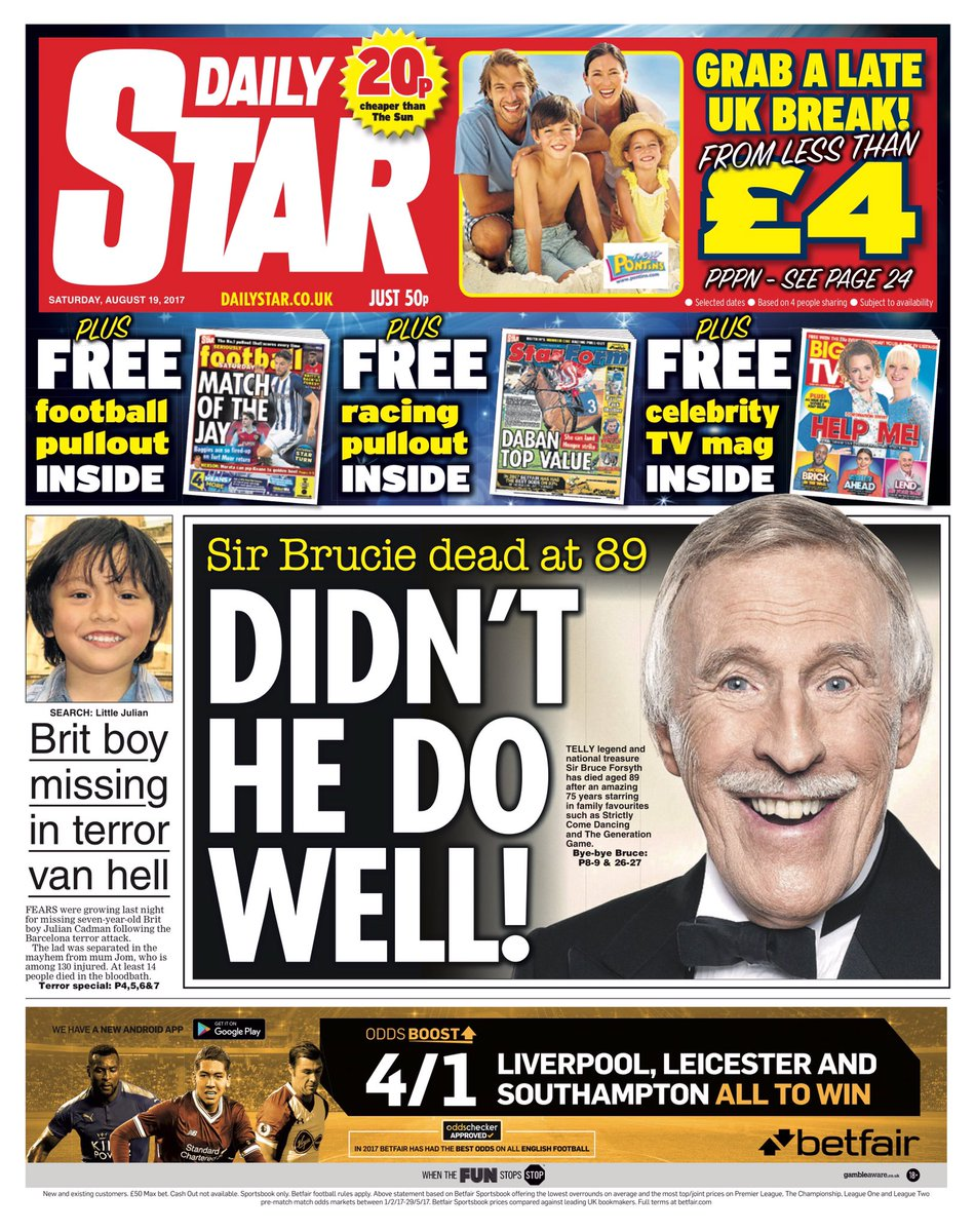 SATURDAY'S DAILY STAR: