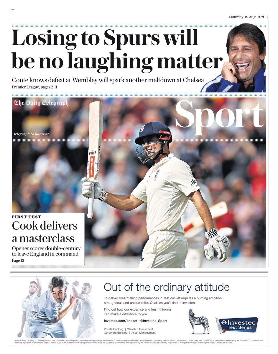 TELEGRAPH SPORT: Losing to Spurs will be no laughing matter #tomorrows...
