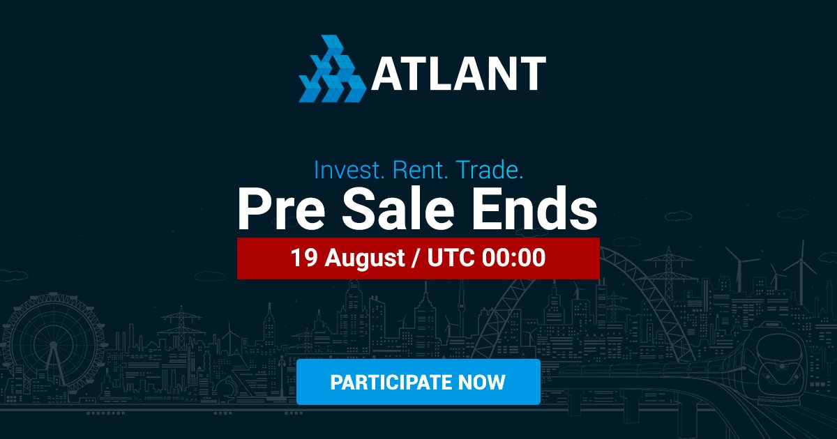 2 HOURS UNTIL ATLANT ICO PRESALE IS OVER AT  http:// atlant.io  &nbsp;    #Blockchain #Real #Estate #ICO #ETH #atlant_platform #bitcoin #presale<br>http://pic.twitter.com/Esz73RKU2w