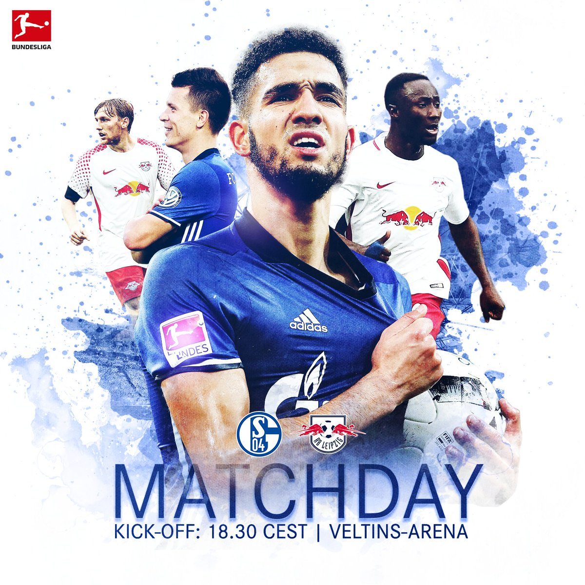 🙌 IT'S FINALLY MATCHDAY! 🙌 ⚽️ #S04 🆚 @RBLeipzig_EN 📍 @VELTINSarena 🕒 1...