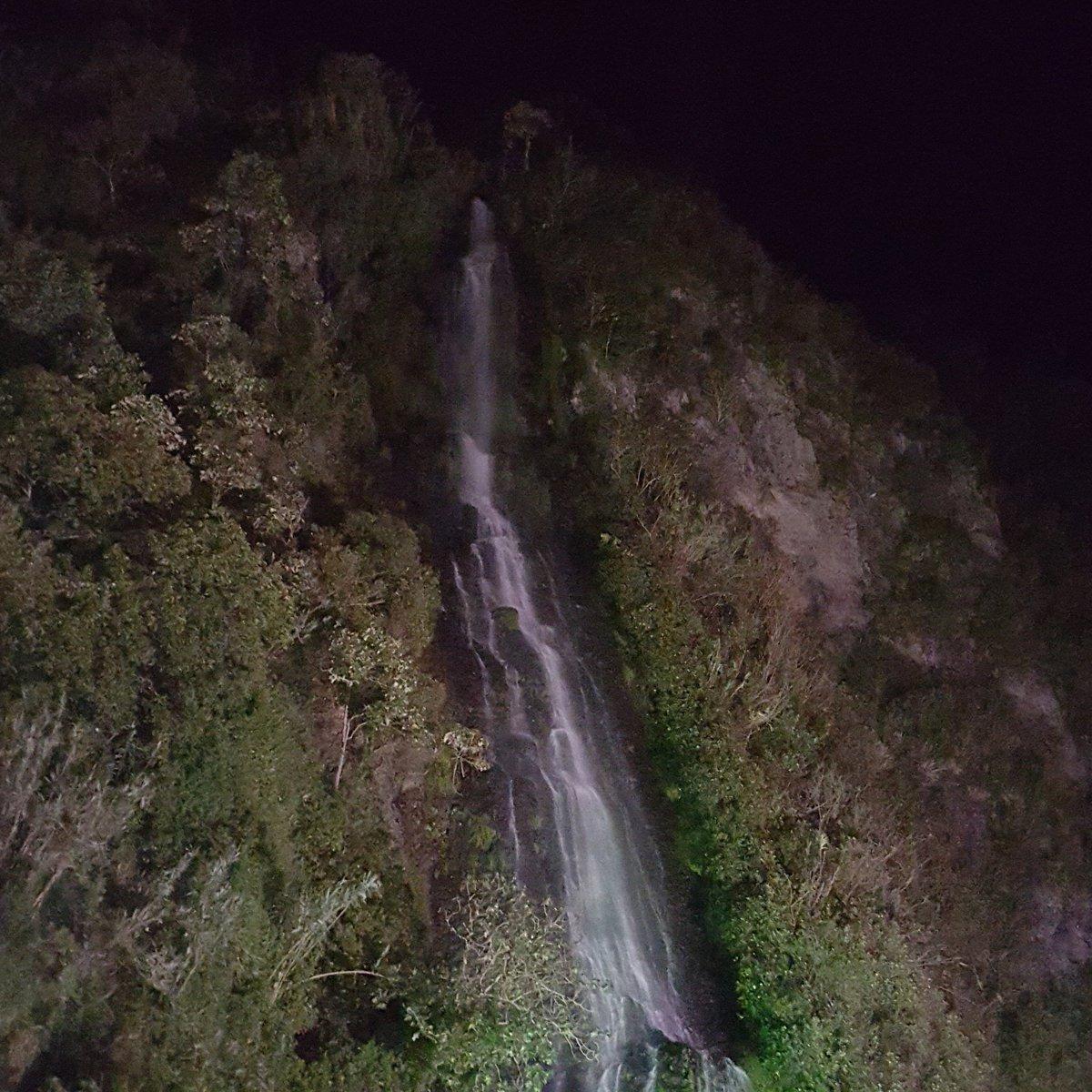 Enjoying the sound &amp; beauty of this waterfall at night   #Travel #adventure #Ecuador <br>http://pic.twitter.com/lJRtUAg8xz