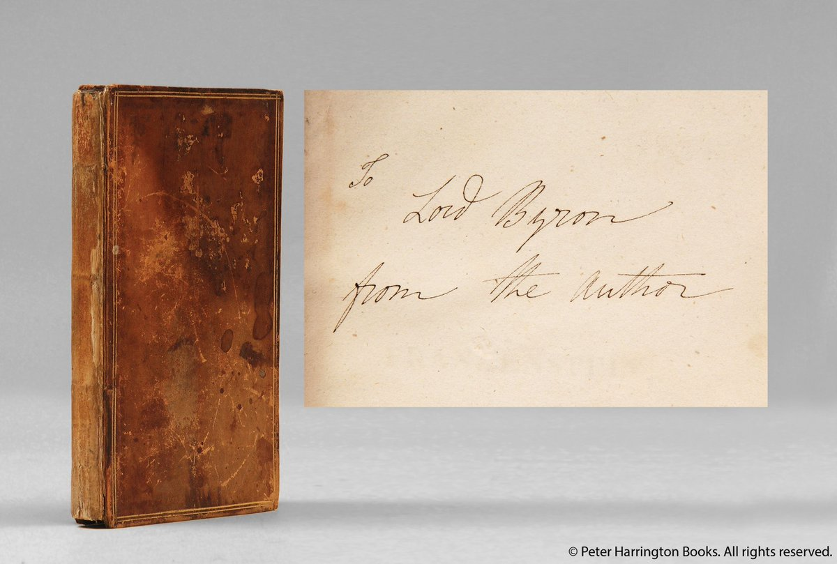 A #rare #first edition of #Frankenstein signed by #MaryShelley for #LordByron<br>http://pic.twitter.com/2bb38lhJlR